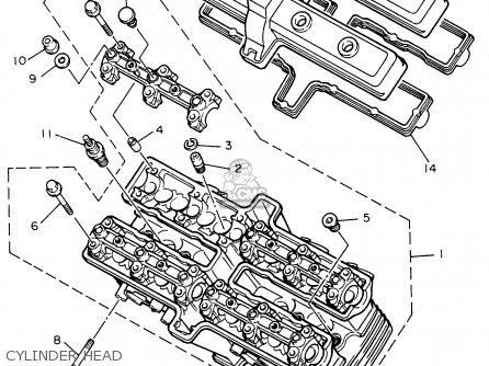 Yamaha Fzr600rh 1996 Usa Cylinder Head