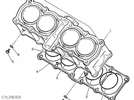 Yamaha Fzr600rh 1996 Usa Cylinder