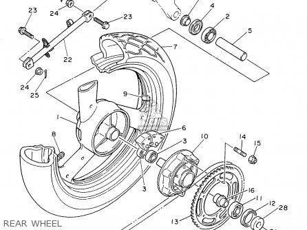 Yamaha Fzr600rh 1996 Usa Rear Wheel