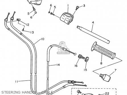 Yamaha Fzr600rh 1996 Usa Steering Handle - Cable