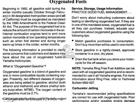 Yamaha Fzr600rh 1996 Usa   Technical Bulletin Pg   2