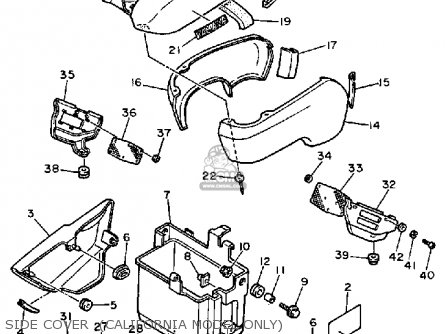 Yamaha Fzx700c 1986 Fazer California Parts Lists And Schematics