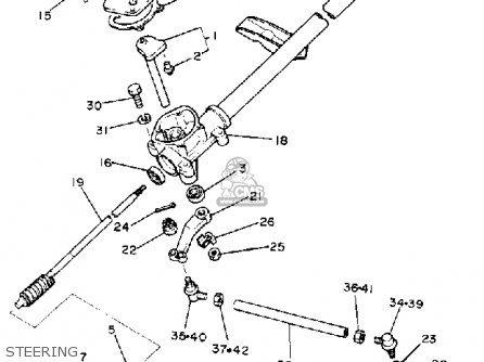 yamaha-g1-a2-1981-steering_mediumyau0242c-4_4df6 Yamaha G Wiring Harness Schematic on outboard main, virago xv500, trim gauge, out board 11 pin,