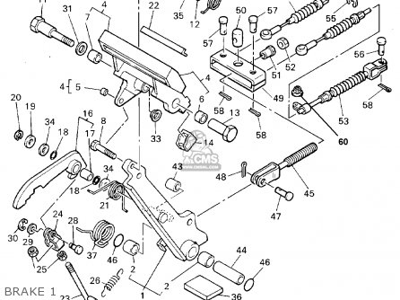 Yamaha Golf Cart Rear End Parts Diagram