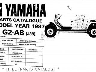 Yamaha g2 ab 1987 parts list partsmanual partsfiche for Yamaha electronic parts catalog