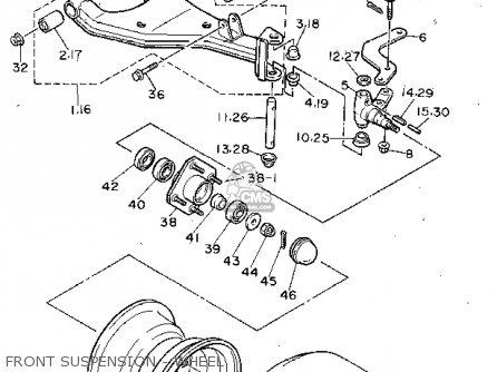 Yamaha G8 Suspension Diagram