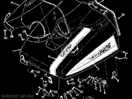 Yamaha Gp292 1972 1973 Shroud Gp-292