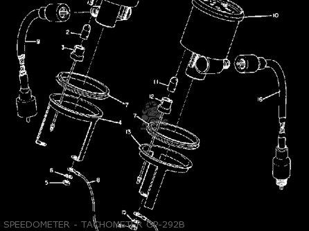 Yamaha Gp292 1972 1973 Speedometer - Tachometer Gp-292b