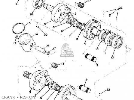 Yamaha Gp440 1976 Parts Lists And Schematics