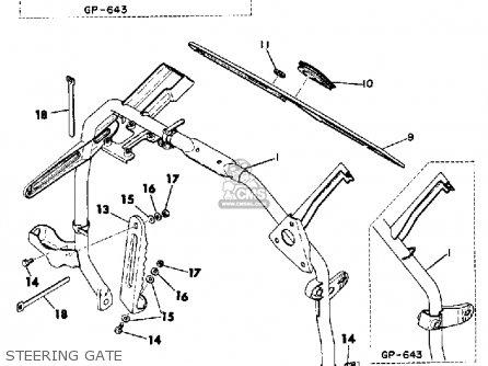 Diagram Of 1972 Gp643 Yamaha Snowmobile Grip Diagram And