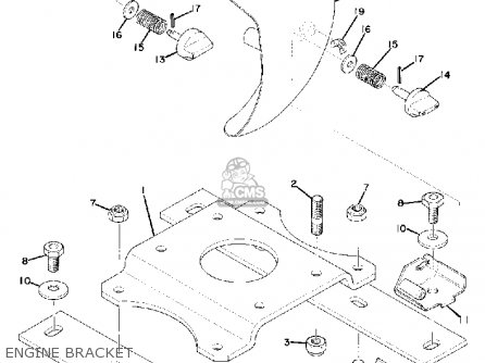 Yamaha Gs340 1976 Engine Bracket