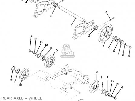 Yamaha Gs340 1976 Rear Axle - Wheel