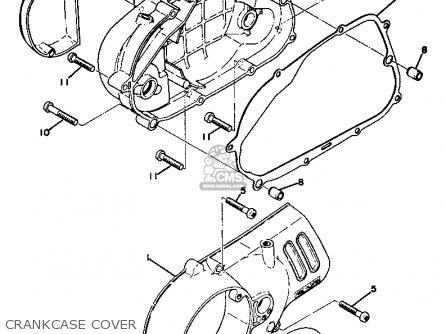 Yamaha Gt1 1973 1974 Usa Crankcase Cover