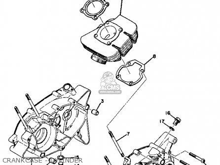 Yamaha Gt1 1973 1974 Usa Crankcase - Cylinder