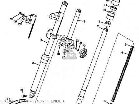 Yamaha Gt1 1973 1974 Usa Front Fork - Front Fender