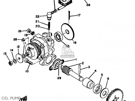 Yamaha Gt1 1973 1974 Usa Oil Pump