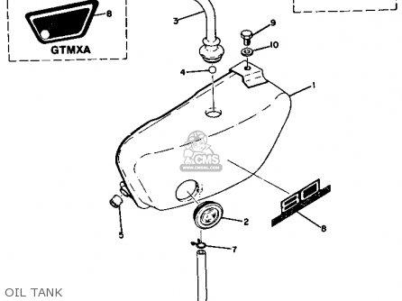 Yamaha Gt1 1973 1974 Usa Oil Tank