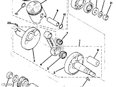 Yamaha GT80 1976 USA parts lists and schematics on
