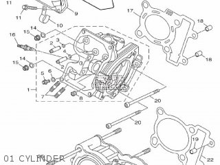 Yamaha Hw125 2012 53b1 Europe Xenter 1l53b-300e1 01 Cylinder