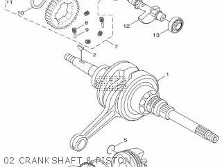 Yamaha Hw125 2012 53b1 Europe Xenter 1l53b-300e1 02 Crankshaft  Piston