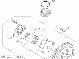 Yamaha Hw125 2012 53b1 Europe Xenter 1l53b-300e1 06 Oil Pump