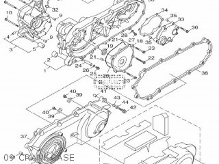 Yamaha Hw125 2012 53b1 Europe Xenter 1l53b-300e1 09 Crankcase