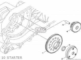 Yamaha Hw125 2012 53b1 Europe Xenter 1l53b-300e1 10 Starter