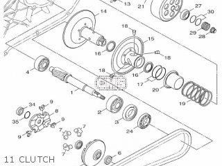 Yamaha Hw125 2012 53b1 Europe Xenter 1l53b-300e1 11 Clutch