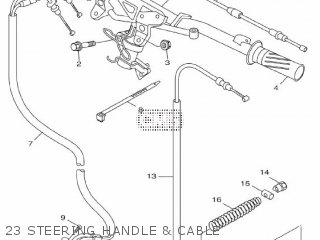 Yamaha Hw125 2012 53b1 Europe Xenter 1l53b-300e1 23 Steering Handle  Cable
