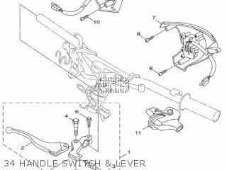 Yamaha Hw125 2012 53b1 Europe Xenter 1l53b-300e1 34 Handle Switch  Lever