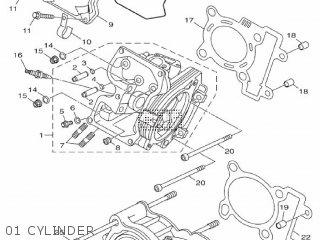 Yamaha Hw151 2012 52s1 Europe Xenter 1l52s-300e1 01 Cylinder