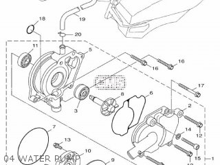 Yamaha Hw151 2012 52s1 Europe Xenter 1l52s-300e1 04 Water Pump
