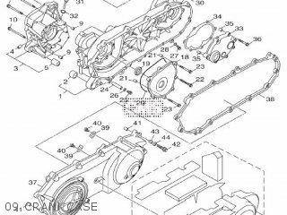 Yamaha Hw151 2012 52s1 Europe Xenter 1l52s-300e1 09 Crankcase