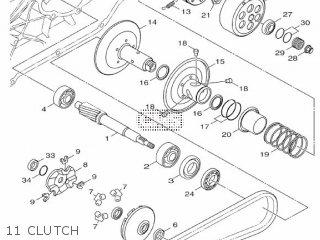 Yamaha Hw151 2012 52s1 Europe Xenter 1l52s-300e1 11 Clutch