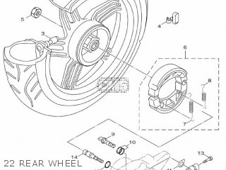Yamaha Hw151 2012 52s1 Europe Xenter 1l52s-300e1 22 Rear Wheel