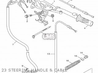 Yamaha Hw151 2012 52s1 Europe Xenter 1l52s-300e1 23 Steering Handle  Cable