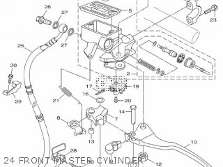 Yamaha Hw151 2012 52s1 Europe Xenter 1l52s-300e1 24 Front Master Cylinder