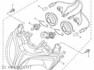 Yamaha Hw151 2012 52s1 Europe Xenter 1l52s-300e1 31 Headlight