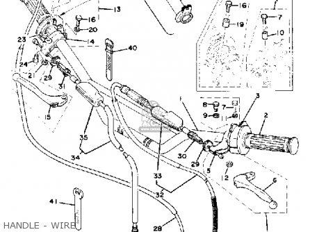 yamaha it175 1977 usa parts list partsmanual partsfiche. Black Bedroom Furniture Sets. Home Design Ideas