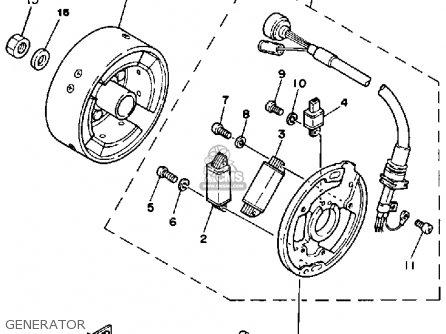 Yamaha it200 1984 e usa canada parts list partsmanual for Yamaha generator canada