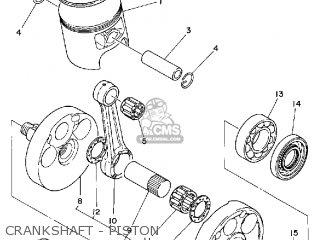 Yamaha It425 1980 a Usa Crankshaft - Piston