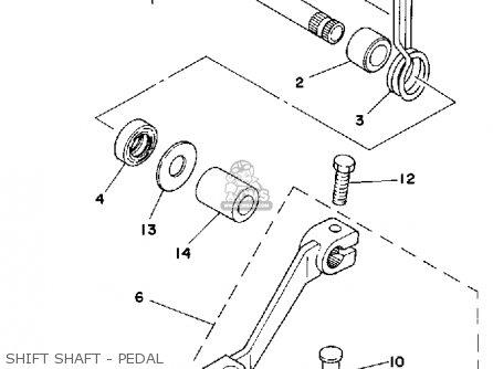 Yamaha It425 1980 a Usa Shift Shaft - Pedal