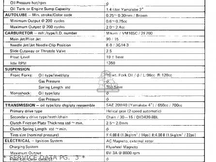 Yamaha LB80-2AC 1976-1978 parts lists and schematics on