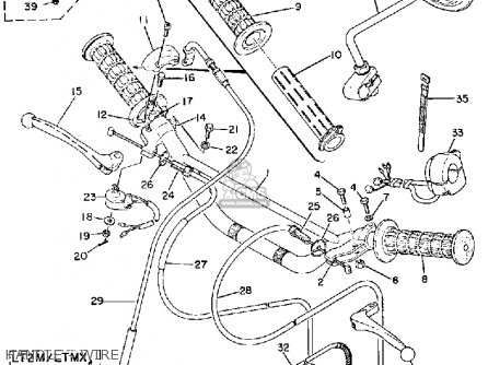 Yamaha Lt3 1973 Usa Handle - Wire