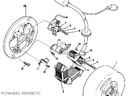 Yamaha Ltmx 1973 Usa Flywheel Magneto