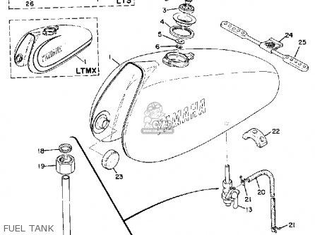 Yamaha Ltmx 1973 Usa Fuel Tank