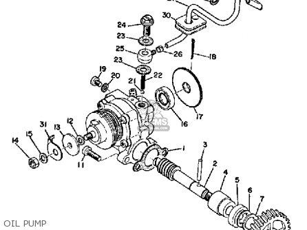 Yamaha Ltmx 1973 Usa Oil Pump