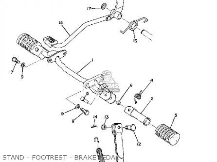 Yamaha Ltmx 1973 Usa Stand - Footrest - Brake Pedal