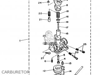 Yamaha Ma50m 1992 2fv England 262fv-310e1 Carburetor