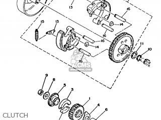 Yamaha Ma50m 1992 2fv England 262fv-310e1 Clutch